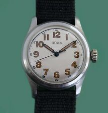 Vintage 1940's  WWII Military DOXA  All Stainless  Army Watch SERVICED