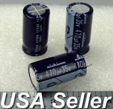 (Lot of 5) 470uF 35V Nichicon Low-ESR Electrolytic Capacitors 105C - USA Seller