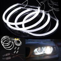 4x CCFL Angel Eyes Standlichtringe Set für BMW E46 Projektor Lampe 146mm+131mm