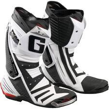 Gaerne GP1 Sport Motorcycle Track Boots White Size 10 US / 44.5 EU & 100% Vegan
