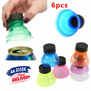 6PCS Convert Cover Soda Reusable Toppers Cans Caps Plastic Savers can Lid