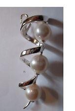 "Collier""pendentif perles d'eau douce""argent massif 925°°°garanti sans nickel"