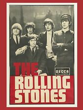 "Rolling Stones Decca 16"" x 12"" Photo Repro promo Poster"