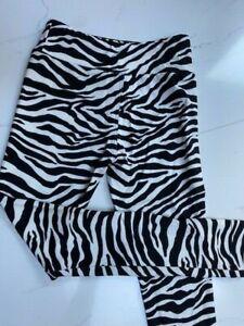 Zebra - Child L/XL 6-10 Charlie's Project Leggings- CLOSEOUT FINAL SALE