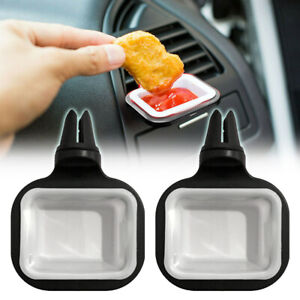 2PCS For Ketchup Car Air Vent Clip Sauce Cup Holder In-car Sauces Bracket Tool