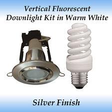Energy Saving 15 watt Warm White Fluorescent Downlight Kit in Silver Frame
