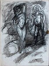 Jacques OCHS (1883-1971) dessin au crayon signé - Nu debout dim. 36 x 27 cm