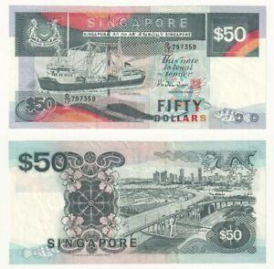 SINGAPORE $50 Dollars Banknote (1997) P.36 - aEF.