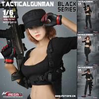 "1/6 Fire Girl Toys FG010 Female Black Shooter Combat Clothes Set F 12"" Figure"