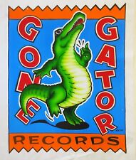 Tom Petty Gone Gator Records, original logo designs and master gouache painting