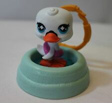 Littlest Pet Shop Duck Pool Clip Keychain Backpack McDonalds Hasbro 2008 LPS