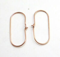40 PCS 25X14MM SOLID COPPER EARRING FINDING 18K GOLD PLATED 1008 OPH-360