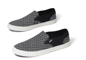 TOMS Men's Baja Printed Slip On Sneakers Black Size 8.5