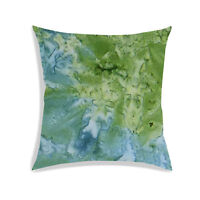 Abstract Digitally Printed Cushion Cover Green Sofa Couch Pillow Case Décor