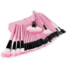 Professional 32 Piece Make Up Brush Set and Cosmetic Brushes Case Pink