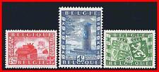 BELGIUM 1950 WWII LIBERATION FROM NAZI SC#B477-79 MLH MILITARY TANKS