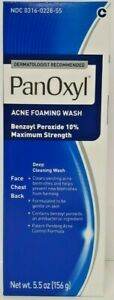 Panoxyl Benzoyl Peroxide 10% Foaming Acne Wash 5.5oz -Expiration Date 09-2022