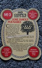 IND COOPES BURTON ALE STORY OF BEER SERIES 1 BEER MAT No3
