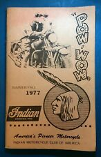 Indian Motorcycle Club Of America POW WOW Pub Summer/Fall 1977