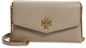 Tory Burch Kira Grey Heron Mini Leather Clutch/crossbody Bag $348.00 #105SW