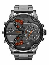 Diesel The Daddies DZ7315 Grey Dial Gunmetal Ion-plated Chronograph Men's Watch