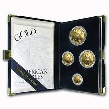 1995-W 4-Coin Proof Gold American Eagle Set (w/Box & COA)