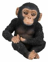 Chimpanzee Chimp Baby - Lifelike Ornament Gift - Indoor or Outdoor Pet Pals NEW