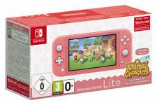 Nintendo Switch Lite HDH-001 Animal Crossing und 3 Monate Switch Online Mitgliedschaft - 32GB, Koralle