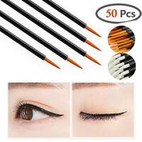 50x Disposable Liquid Eyeliner Brush Eye Lip Liner Tools Make Up Applicator Wand
