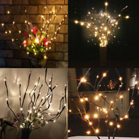 20LED Willow Tree Branch Warm Light Fairy Lamp Christmas XMAS Home Party Decor