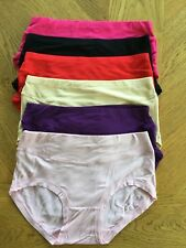 Silky Soft Bamboo Knickers Pants Briefs Moisture Absorbing Multi Colours Packs