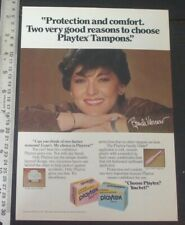 Brenda Vaccarv PLAYTEX Tampons Advertisement AD original magazine page PHOTO