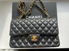 Chanel Classic Medium Black Lambskin Double Flap Bag