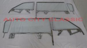 1959 1960 Buick Chev Olds Pontiac Convertible Glass Vent Door Quarter Assm Clear