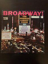"""Vintage The Norman Luboff Choir """"Broadway!""""  Vinyl LP"""
