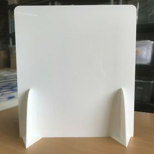 White Opaque Privacy Sneeze / Cough Guard, Counter Top Safety Screens