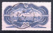 "FRANCE AERIEN 15 "" AVION CAUDRON SIMOUN 50F BURELAGE ROSE1936"" OBLITERE TB  P044"