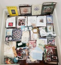 Lot of Cross Stitch Kits, Floss, Patterns and More