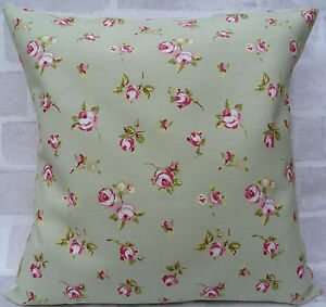 """Clarke & Clarke Sage Rosebud cushion cover - All Sizes Available 16"""" inch"""