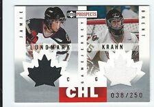 2000/01 Upper Deck CHL Jamie Lundmark Brent Krahn Dual Jersey Card /250