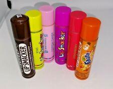 Lip Smackers (6 Piece Set) Exp. 5/2022 (Fruit Flavors & Orange Cola)Cotton Candy