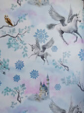 Arthouse Glitter Detail Kids Girls Bedroom Wallpaper Feature Wall Fairytale Unicorn - Blue 667800