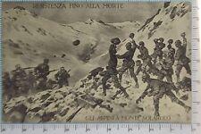 268) Cartolina 3 Reggimento Gli Alpini a Monte Solarolo