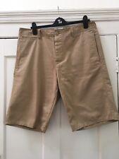 GAP Mens Khaki Beige Canvas Cotton Chino Shorts 36 Waist