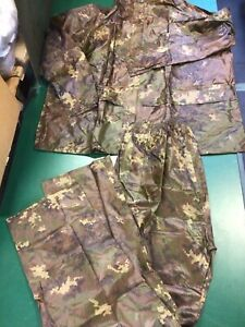 Waterproof Suit, Mil-tec, Jacket And Trousers, Flectarn Camo, PVC, Size 3XL, New