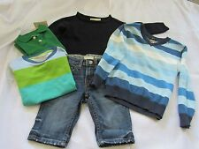 Boys Kids Clothing Lot Size 2-4, 5 Piece Wardrobe Pants and Tops H & M, Crewcuts
