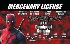DEADPOOL   novelty  fake ID i.d. card Drivers License