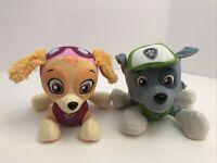 "Spin Master Paw Patrol Skye And Rocky Pup Dog Plush Stuffed Animal Toy 6"""