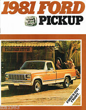 1981 FORD CAMIONETA PICKUP FOLLETO CON / tabla de colores: Camioneta,f-100,150