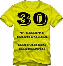 30 T-Shirts bedrucken lassen. einseitig einfarbig. Fruit of the Loom.
